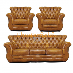 Monk 311 Antikgold Chesterfield Garnitur