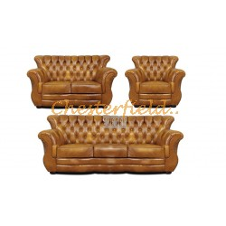 Monk 321 Antikgold Chesterfield Garnitur