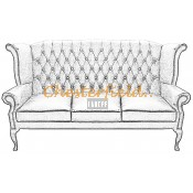 Queen 3er Chesterfield Sofa (2)