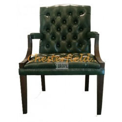 King  Antikgrün (A8) Chesterfield Armstuhl