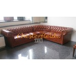 Lord 3+2 Antikwhisky Chesterfield Ecksofa   280 cm x 235 cm