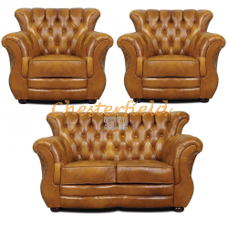 Monk 211 Antikgold Chesterfield Garnitur