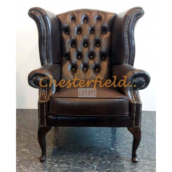 Queen Antikbraun (A5) Chesterfield Ohrensessel