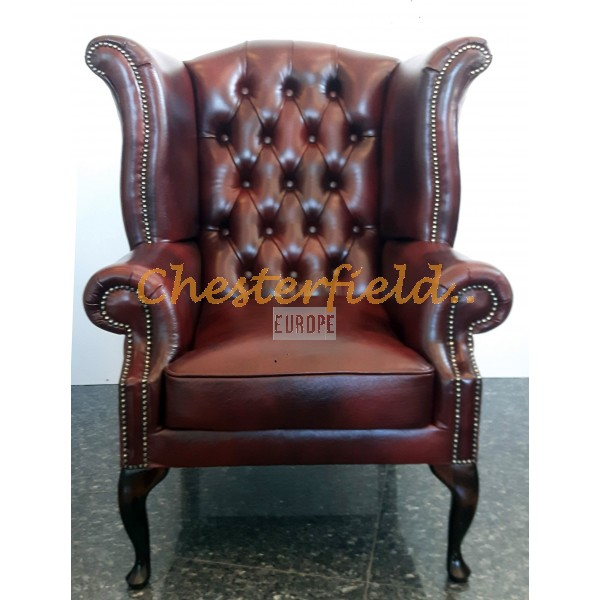 Queen Antikrot (A7) Chesterfield Ohrensessel