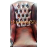 Queen XL Antikrot Chesterfield Ohrensessel