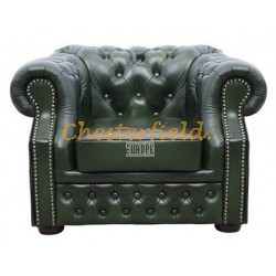 Windsor XL Antikgruen Chesterfield Sessel