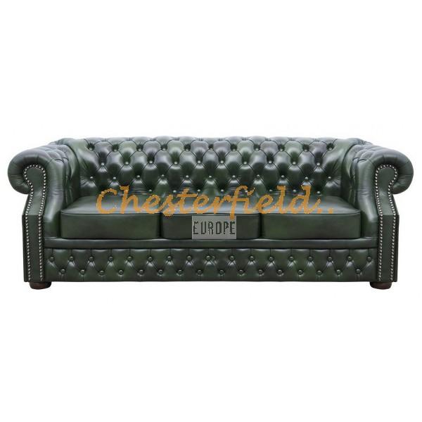 Windsor Antikgruen 3-Sitzer Chesterfield Sofa