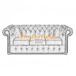 Classic 3er Chesterfield Sofa