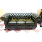 Classic Antikgruen 3-Sitzer Chesterfield Sofa