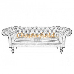 Diva 3er Chesterfield Sofa