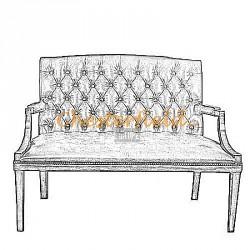 King 2er Chesterfield Sofa