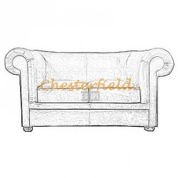 London 2er Chesterfield Sofa