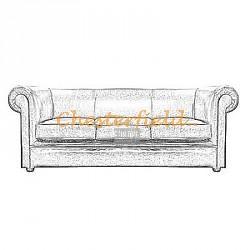 London 3er Chesterfield Sofa