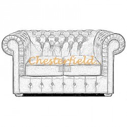 Mark 2er Chesterfield Sofa