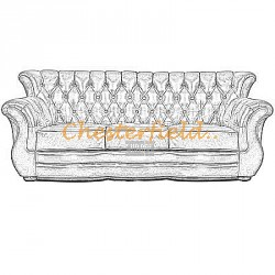 Monk 3er Chesterfield Sofa