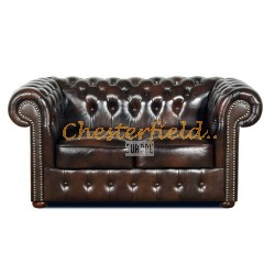 Classic  Antikbraun 2-Sitzer Chesterfield Sofa