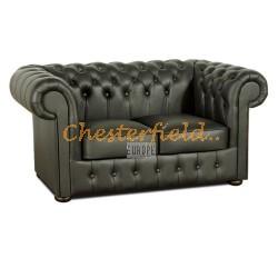 Classic Schwarz 2-Sitzer Chesterfield Sofa