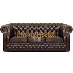 Windsor Antikbraun 3-Sitzer Chesterfield Sofa