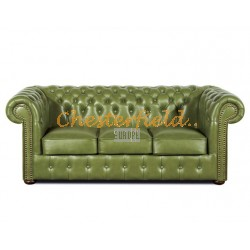 Classic Olive 3-Sitzer Chesterfield Sofa