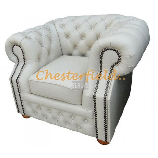 Windsor XL Off White Chesterfield Sessel