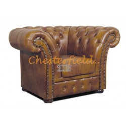 Windchester Antik Gold (S12) Chesterfield Sessel