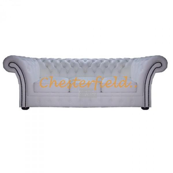 Windchester Weiß 3-Sitzer Chesterfield Sofa