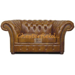 Windchester Antikgold 2-Sitzer Chesterfield Sofa