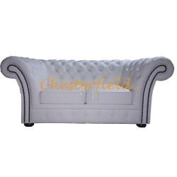 Windchester Weiß 2-Sitzer Chesterfield Sofa