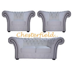 Windchester 211 Weiß Chesterfield Garnitur