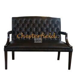 King Antikbraun 2-Sitzer Chesterfield Sofa