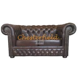 Lord Antikbraun 2-Sitzer Chesterfield Sofa