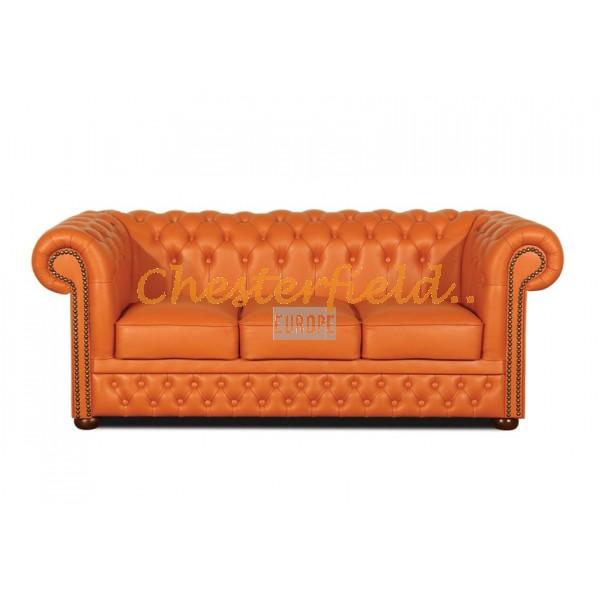 Lord Orange 3-Sitzer Chesterfield Sofa