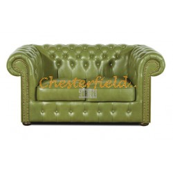 Classic Olive 2-Sitzer Chesterfield Sofa