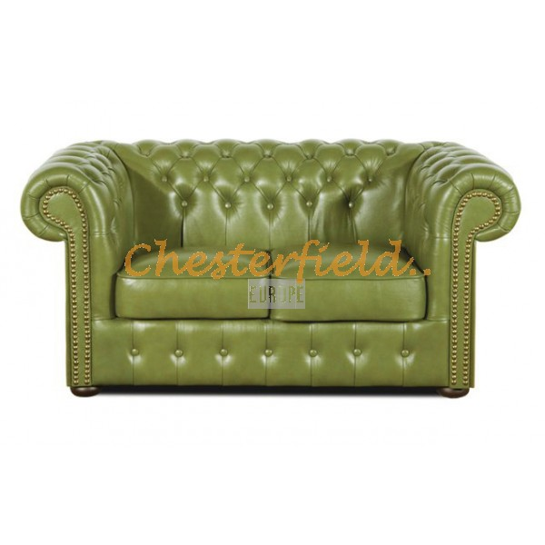 Classic XL Olive 2-Sitzer Chesterfield Sofa