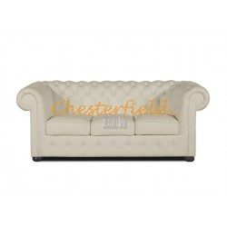 Classic Off Weiß 3-Sitzer Chesterfield Sofa