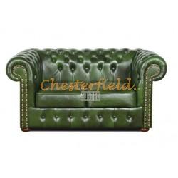 Classic Antikgruen 2-Sitzer Chesterfield Sofa