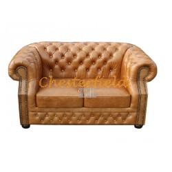 Windsor Antikwhisky 2-Sitzer Chesterfield Sofa