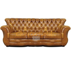 MonkA Antikgold 3-Sitzer Chesterfield Sofa