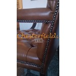 King Antik Gold (S12) Chesterfield Armstuhl