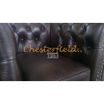 Classic 311 Antikbraun Chesterfield Garnitur