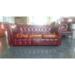 Classic Antikrot 3-Sitzer Chesterfield Sofa