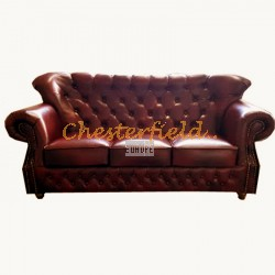 MonkB Antikrot 3-Sitzer Chesterfield Sofa