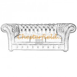 Windchester 3er Chesterfield Sofa