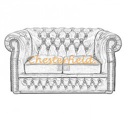 Windsor 2er Chesterfield Sofa