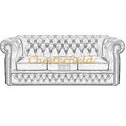 Windsor 3er Chesterfield Sofa